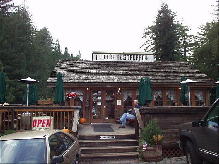 On this rainy Saturday, Sharon and I went to have lunch with fellow MG Owners Club members at Alice's in Woodside, CA.  We had passed by this historic restaurant many times during bicycle rides, but this would be our first time actually eating there.