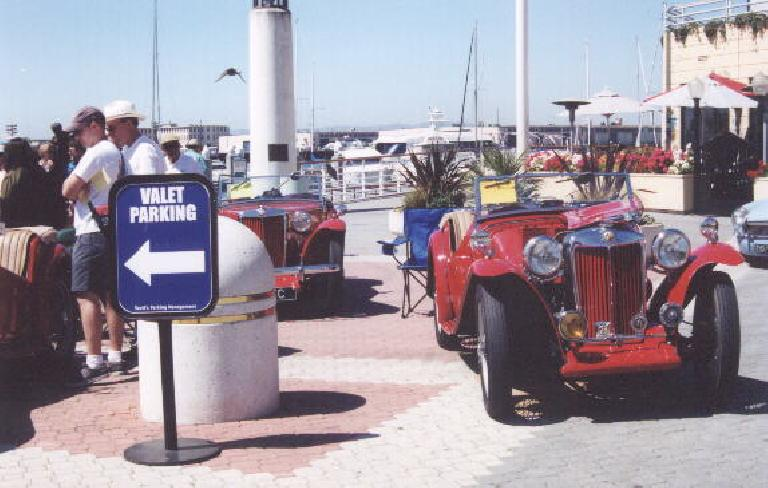 A red MG TC.