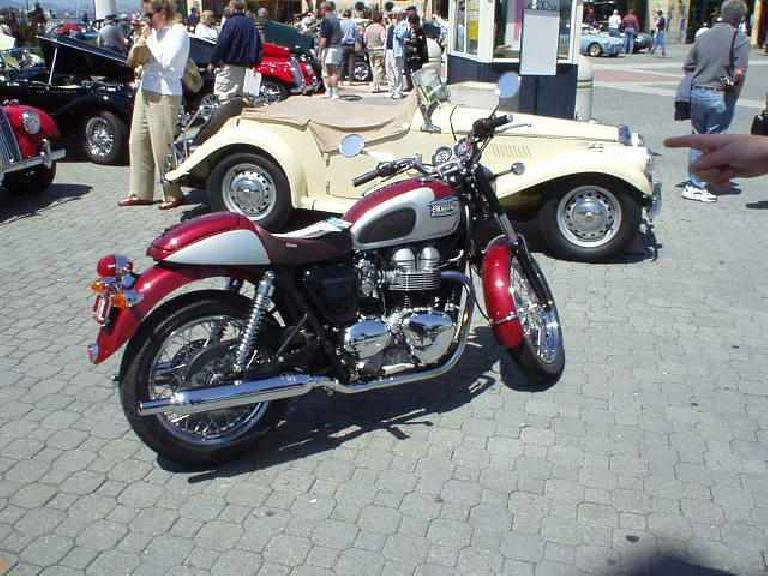 There was even a newish Triumph Bonneville motorcycle on hand.