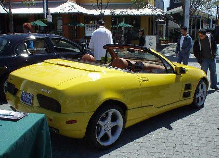 Qvale's latest creation, the Qvale Mangusta, manufactured in Modena, Italy, not too far from where Lamborghini and Ferrari has factories.  A few hundred are imported to the U.S.; later, it will be the basis for the upcoming MG supercar!