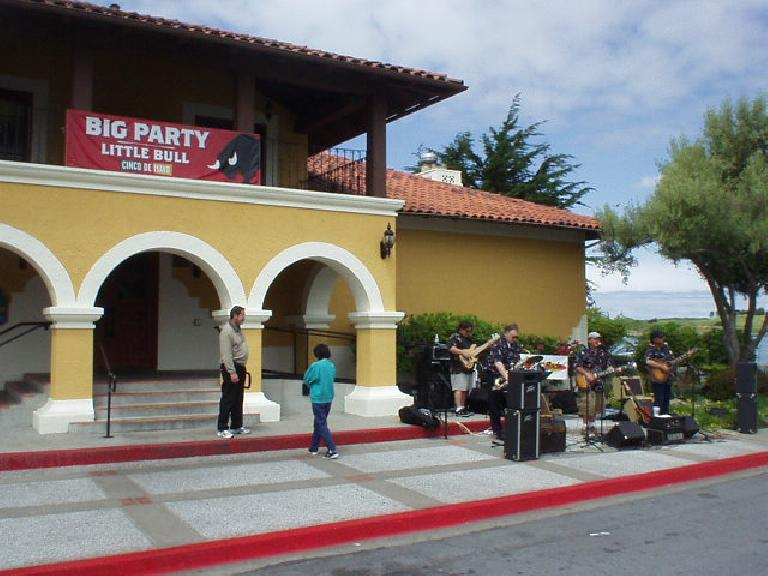 """At MGs by the Bay at the San Leandro Marina (instead of Jack London Square), live 50s & 60s music was played by """"The Hot Rods"""" in front of El Torito.  They were fantastic!"""