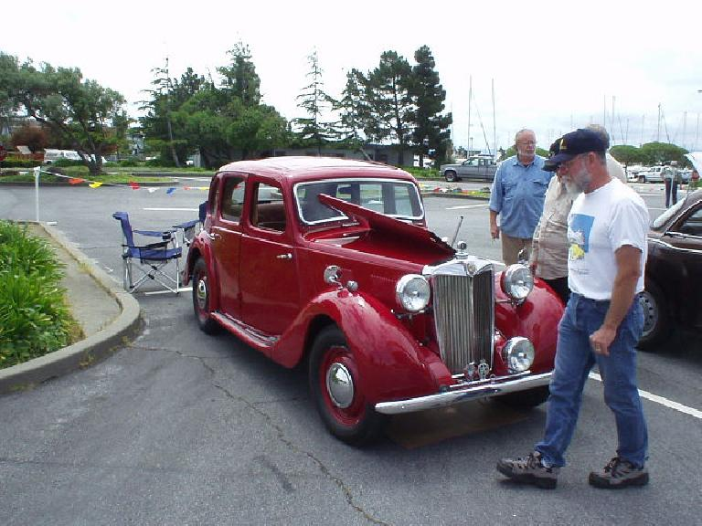 Bill Hiland brought a beautiful 1950 YA sedan to the show..