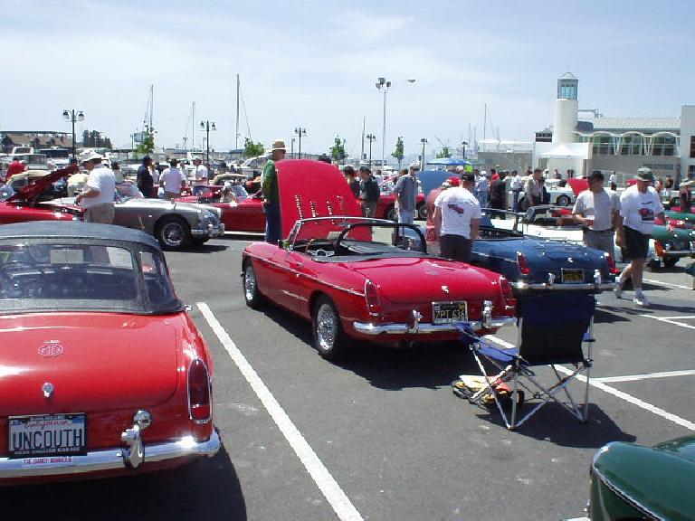 and some nice MGB roadsters.  My own faithful MGB was not here this year... no time...