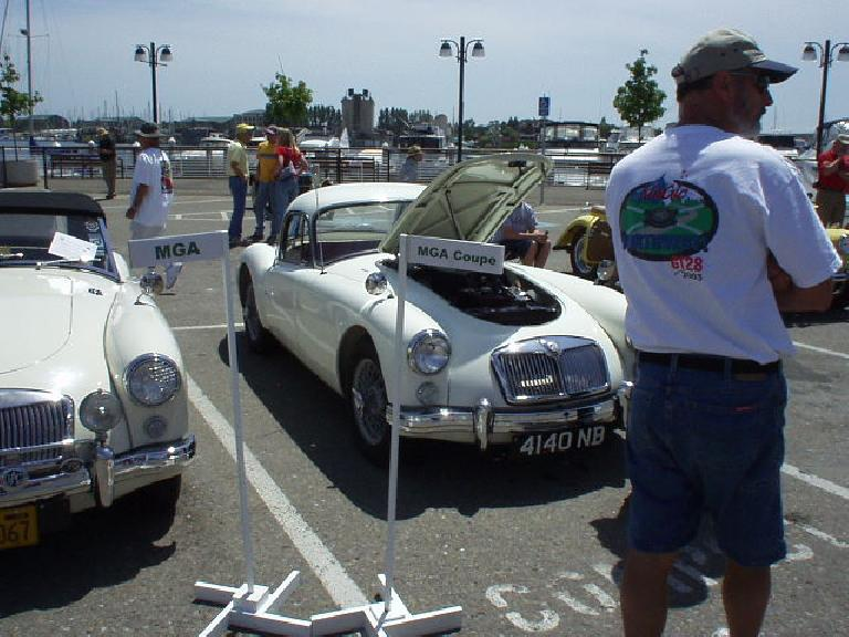 Elegant MGA coupe.  Great weather for a car show this year!