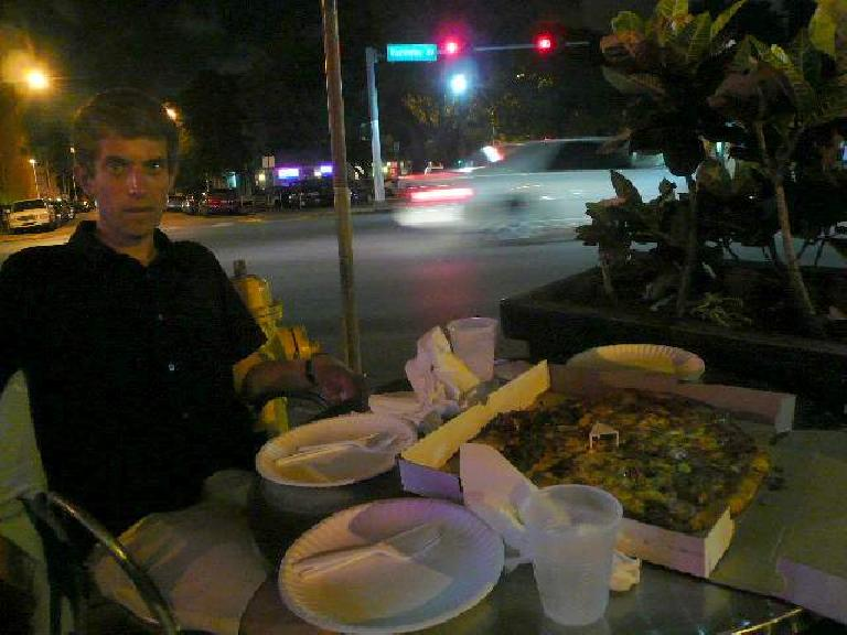 After surveying all the restaurants along the main strip, we concluded that the South Beach diet is actually pizza.