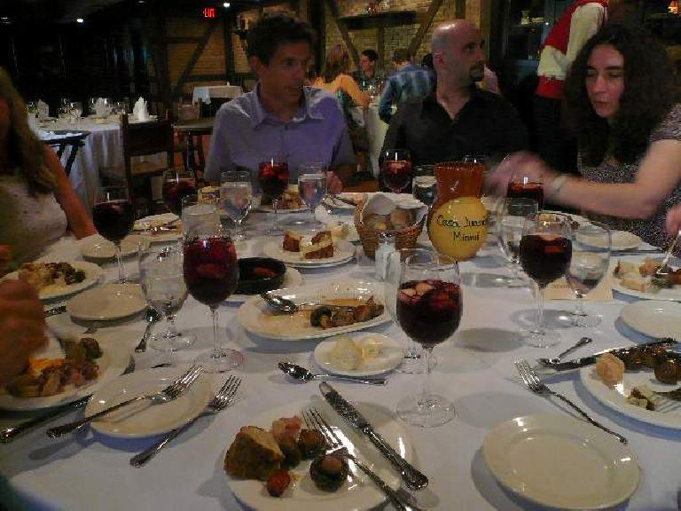 We had a post-rehearsal dinner at a Cuban restaurant in Miami.