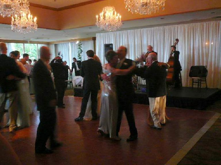 There was lots of dancing before, during, and after dinner.  The entire weekend was a lot of fun!