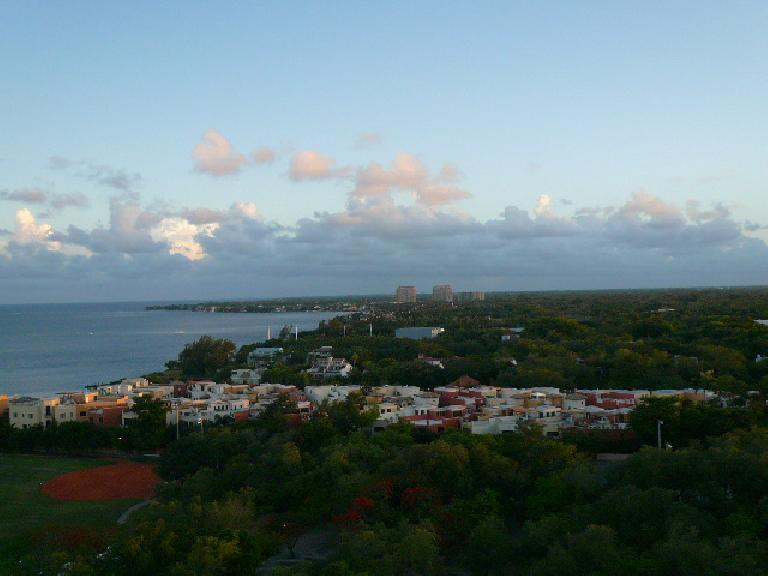The view from Dan & Susan's room at the Sonesta in Coconut Grove.
