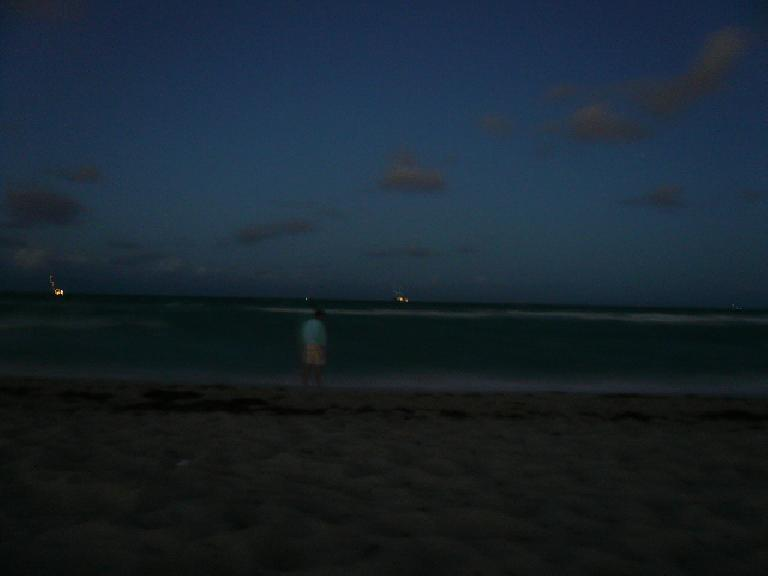 Later that night, Dan and I went to South Beach.  That's Dan in the photo.