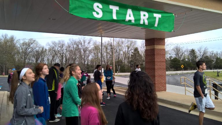 The start of the 2017 Mission Run in the Ozarks.