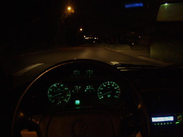 I was done by 1:30 a.m. and hence got to do a nice relaxed cruise back home in the Alfa.