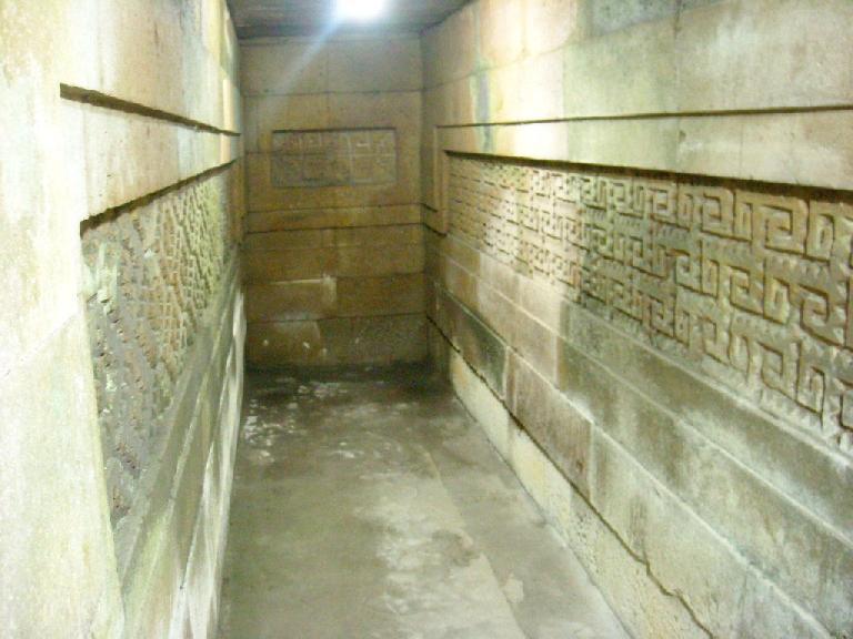Inside a tomb.