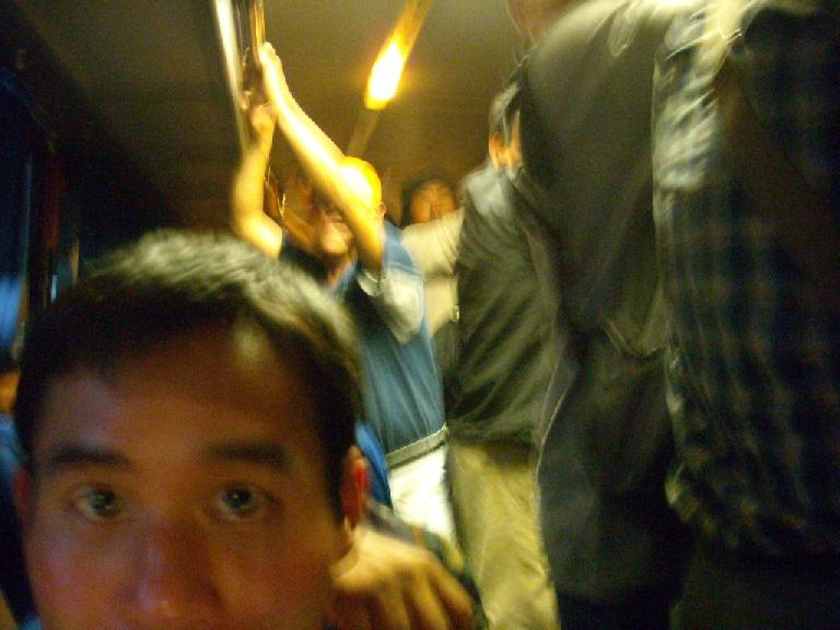 On the second-class bus back to Oaxaca.