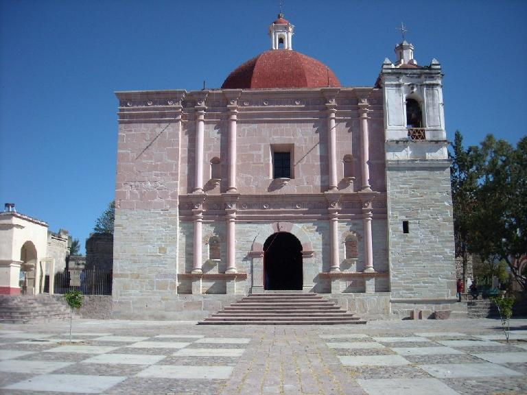 The Church of San Pedro is on the site of ruins.