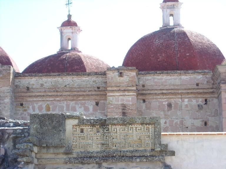 Intricate stone designs at the Church of San Pedro.