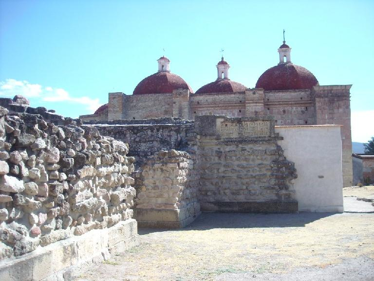 Stone walls at the Church of San Pedro.