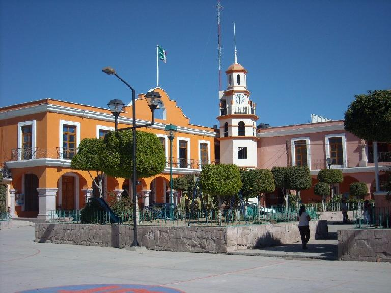 Plaza in Mitla.