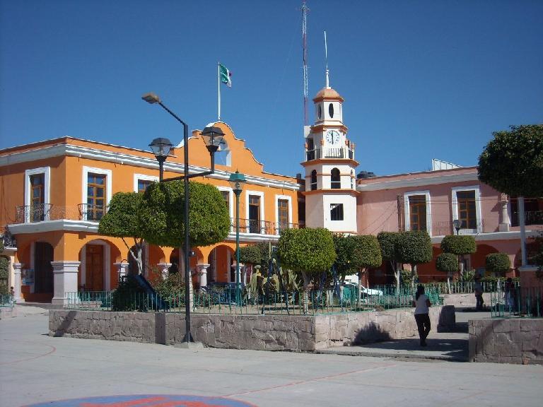 Plaza in Mitla.