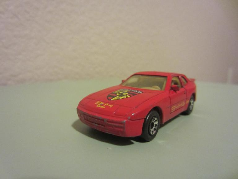 I bought this used Matchbox Porsche 944 Turbo on ebay for $2.48 + shipping.  I couldn't find one in white like the 944 Turbo I owned, but I solved that with white spray paint. (May 4, 2012)