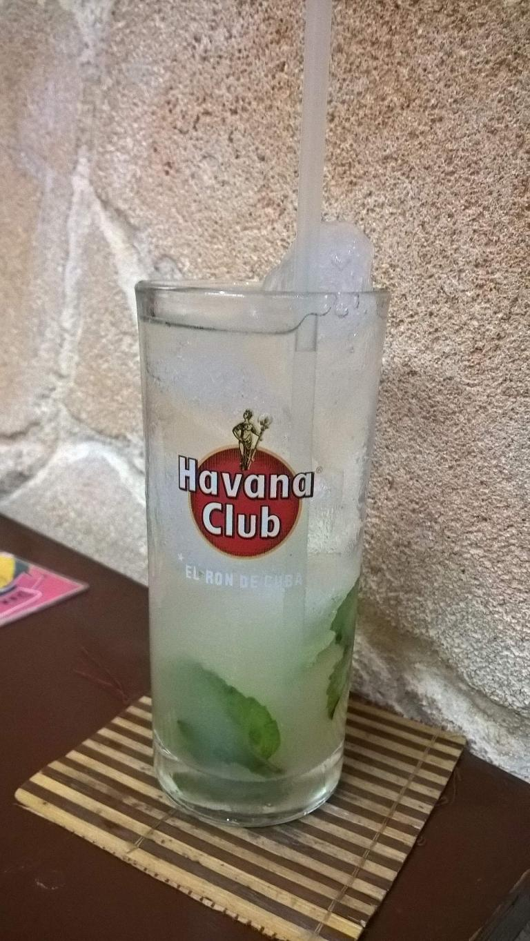 A mojito at the Don Saluatore restaurant in Havana Vieja, Cuba.