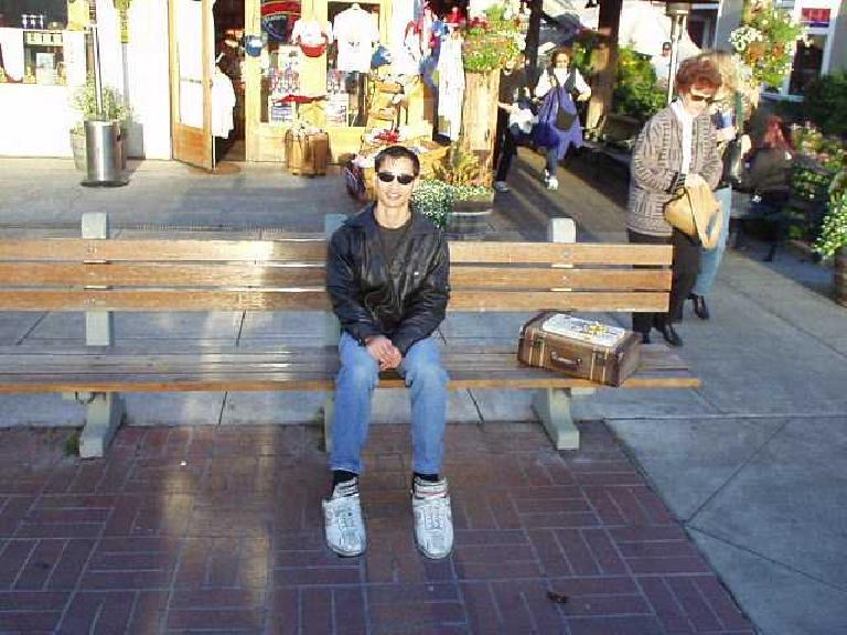 Felix Wong in Monterey, as Forrest Gump.