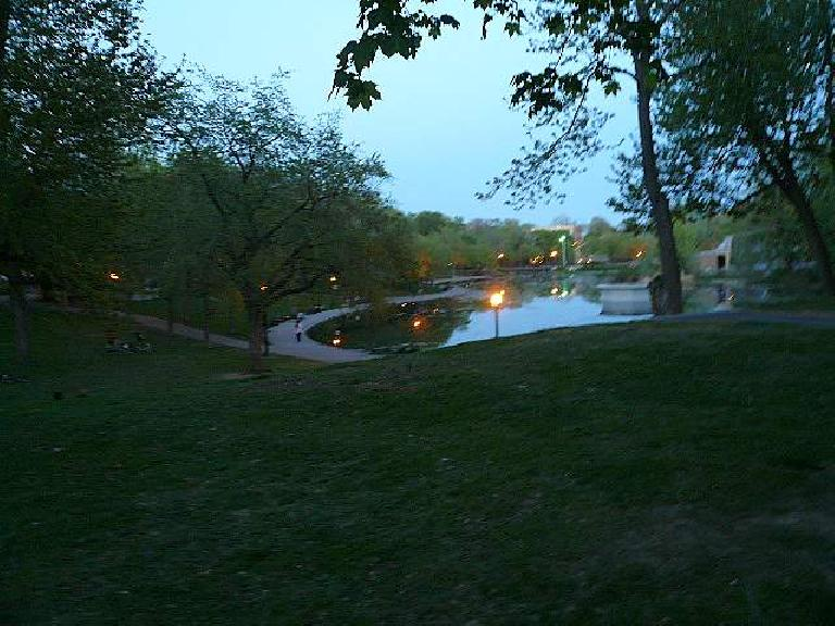 There are some nice parks too, including this one (Parc Fontaine).