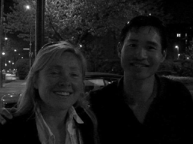 It was still warm enough in May to have drinks outside late at night with Sylvie.