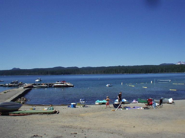 Behind the resort is a marina to Cultus Lake.