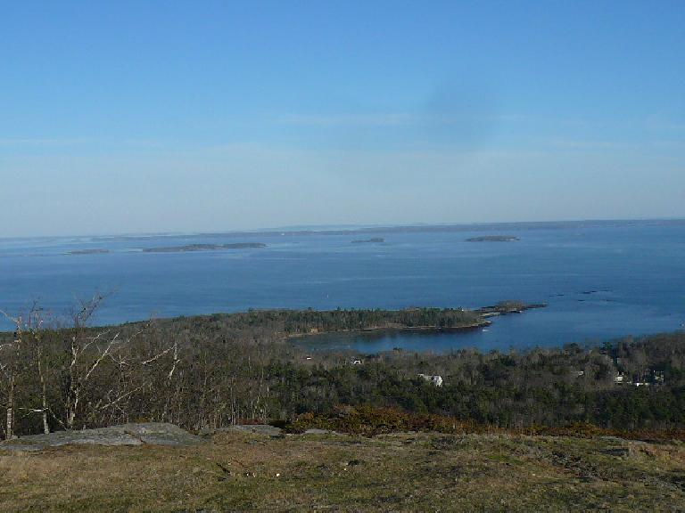 One could see Bar Harbor and Cadillac Mountain in the distance... sort of...