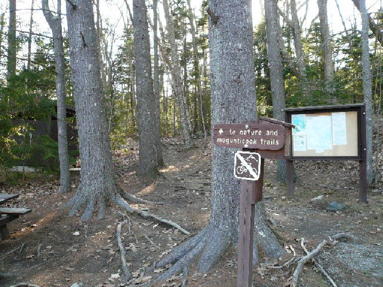 Start of the hiker's trail up Mt. Battie.