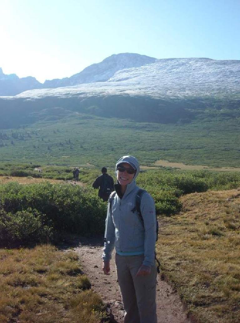 Lisa with Mt. Bierstadt behind.