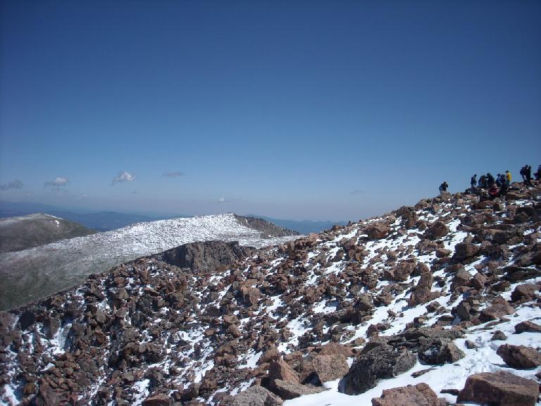 Boulder field at the top.