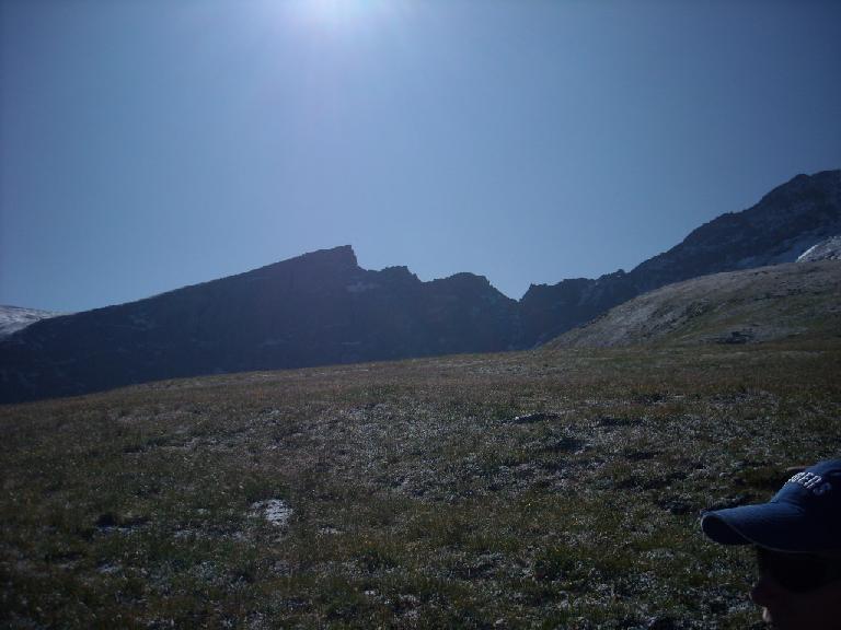 Sawtooth-like mountains.