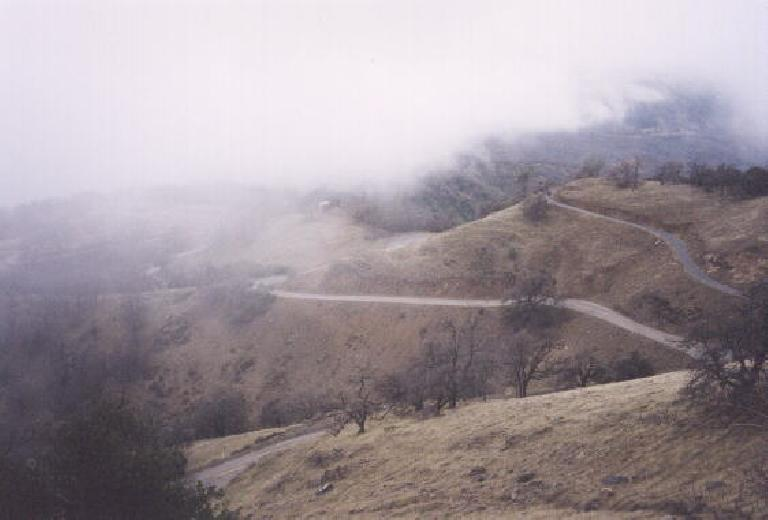 The numerous switchbacks of Mt. Hamilton.  These are what you have to climb up!
