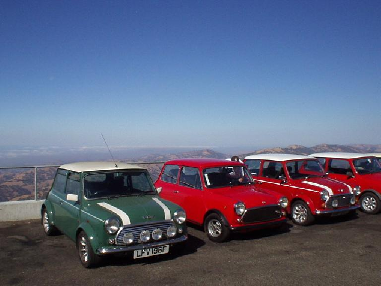 Already at the top was the Mini Mania club!  You can say that British cars dominated Lick Observatory this morning!