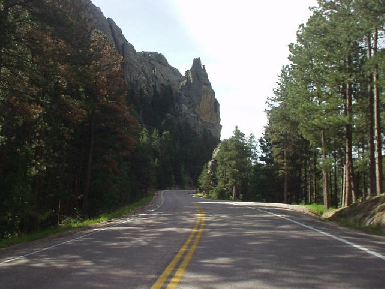 Highway 244 to Mt. Rushmore made for a splendid drive.