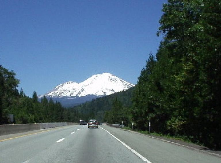 One really gets a good sense of how colossal Mt. Shasta is while driving towards it north of Redding along I-5.