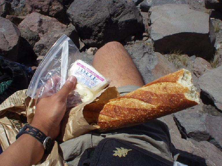 For lunch I had some French sourdough and brie, which seemed appropriate considering the Tour de France was going on and we kept having to side-step up the mountain using the French Technique!