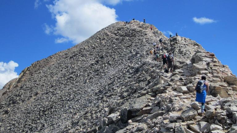 Final push to the summit.