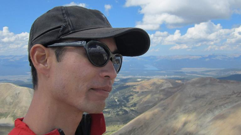 Felix Wong on the summit.