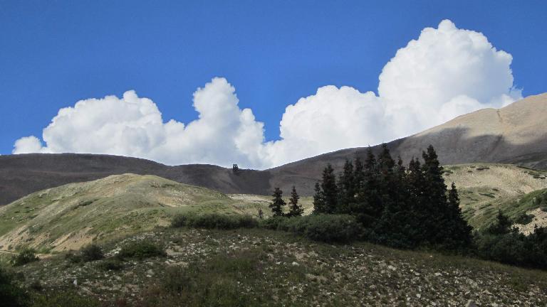 Puffy clouds.