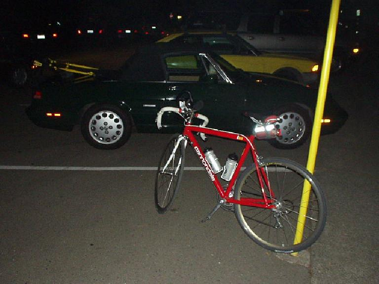 Before the ride I slept at home for a whole two hours, then drove up in the Alfa from Fremont and arrived in San Rafael at about 3:45 a.m.