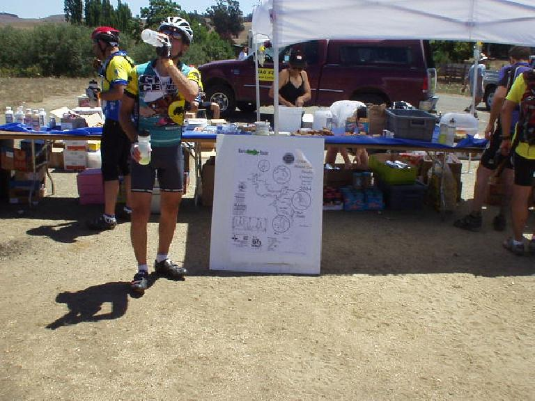 [Mile 114, 1:29 p.m.] At the Valley Ford rest stop, I stopped for a moment to regroup, knowing that the next leg would be the most difficult of the day aside from, perhaps, Mt. Tam.