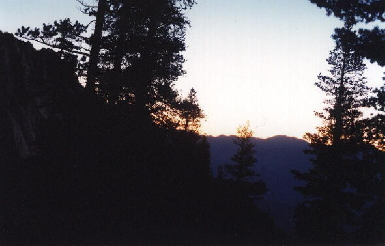 Beautiful sunrise at 5:45 a.m.
