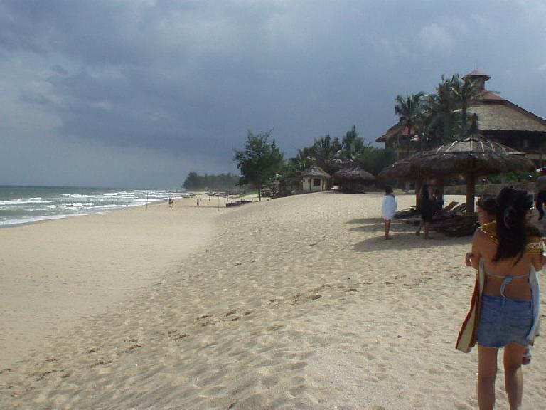 The Seahorse Hotel's private beach in Mui Ne.