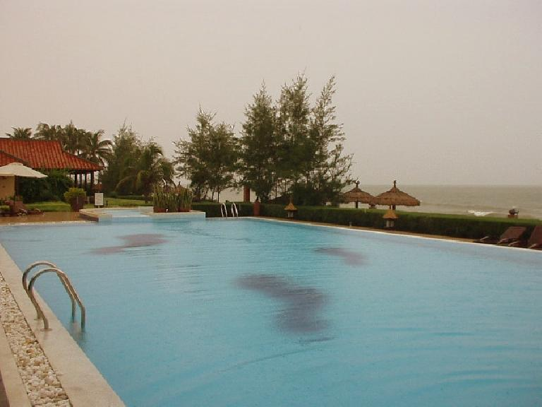 The Seahorse Hotel's 25-meter pool.  We swam in this a lot.