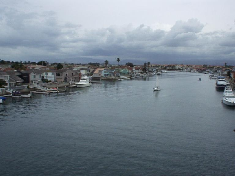 [Mile 75, 10:56 a.m.] The Channel Island harbor and boats abound.