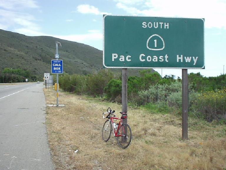 [Mile 141, 4:00 p.m.] Finally, back to the Pacific Coast Highway with a much-welcome (and long-awaited) tailwind!
