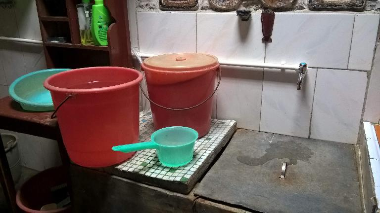 The villager's house only got running water (via PVC pipe) last year in 2015!