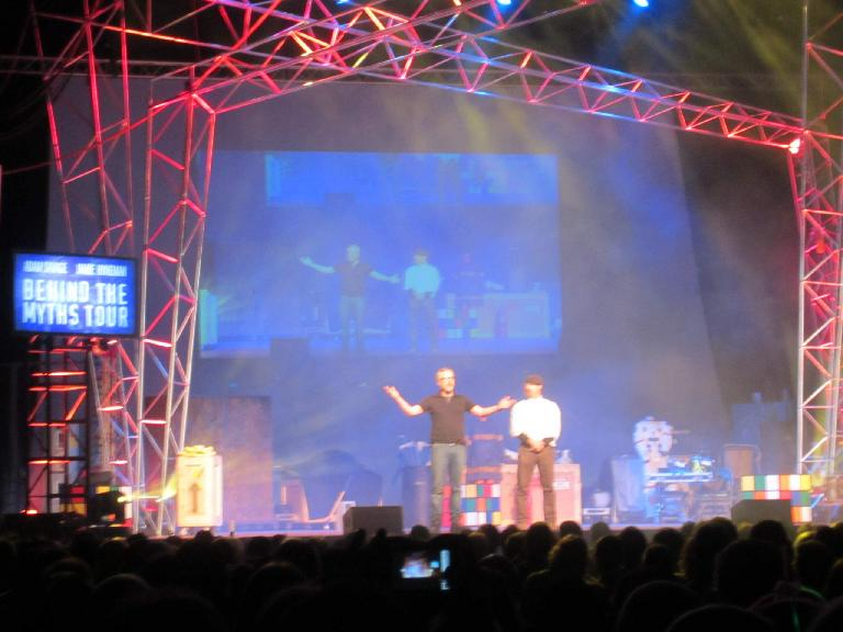 The start of the Behind the Myths Tour with Mythbusters Adam and Jamie.